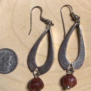 Jewelry - Long sterling fish hook earrings